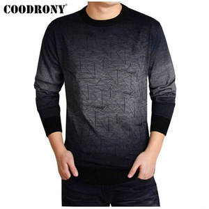 COODRONY Cashmere Sweater Shirt Pullover Men Wool Brand-Clothing Autumn O-Neck Casual