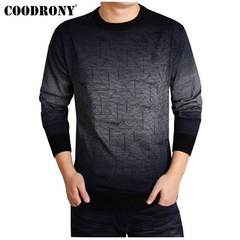 COODRONY Cashmere Sweater Men Brand Clothing Mens Sweaters Print Casual Shirt Autumn Wool Pullover Men O-Neck Pull Homme Top 613 image