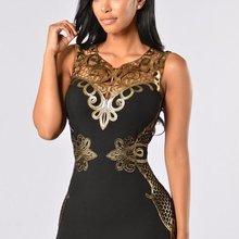 f947e0c9c Sexy negro de las mujeres vestido Bodycon vendaje vestido Desigual para las mujeres  Vestidos sin mangas