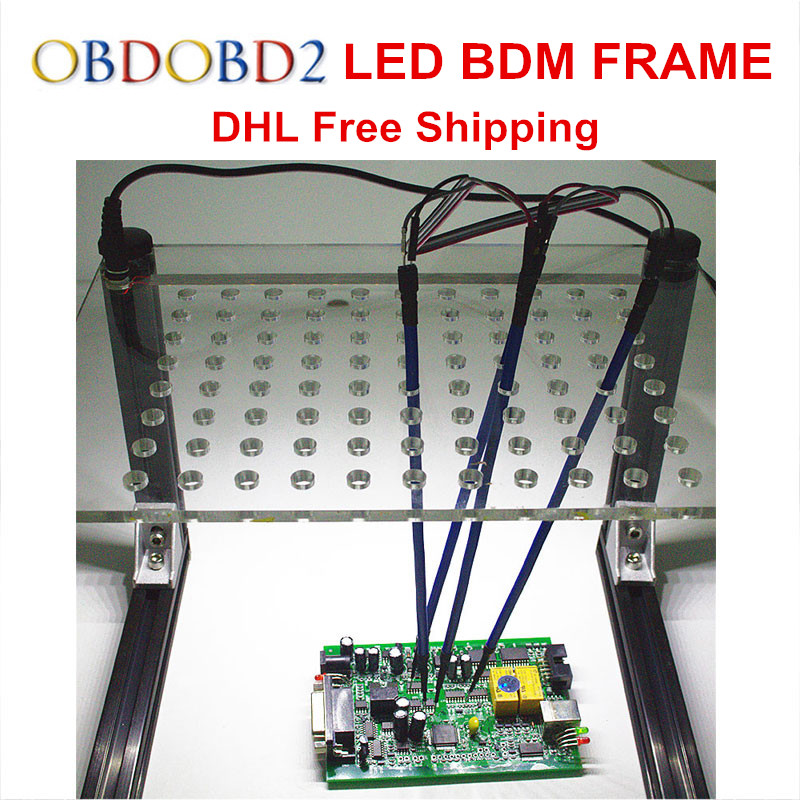 Newest LED BDM Frame With 4 Probe Pens Full Set For KESS V2 KTAG FG TECH V54 BDM100 K-TAG Auto ECU Chip Tuning Tool DHL Free best quality led bdm frame with 4 probe pens full set 22pcs bdm adapters fit for ktag kess fgtech bdm100 ecu chip proframmer