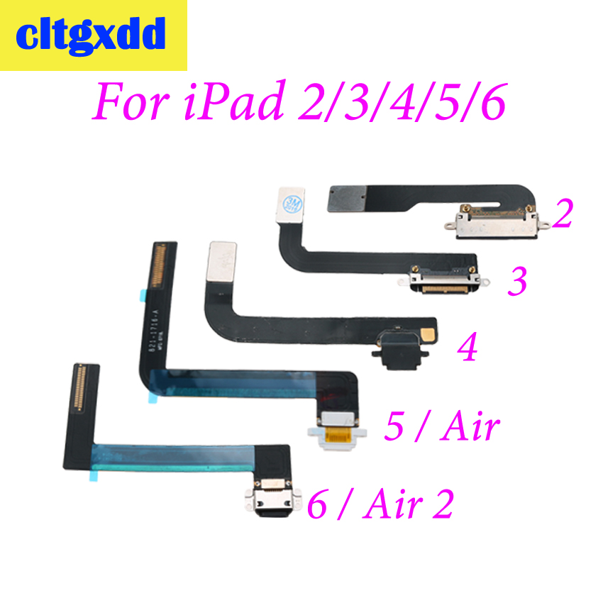 Cltgxdd Charger Socket Jack Charging Port USB Dock Connector Flex Cable For IPad 2 3 4 5 6 Air 2 For Mini 1 2 3 4 Replacement