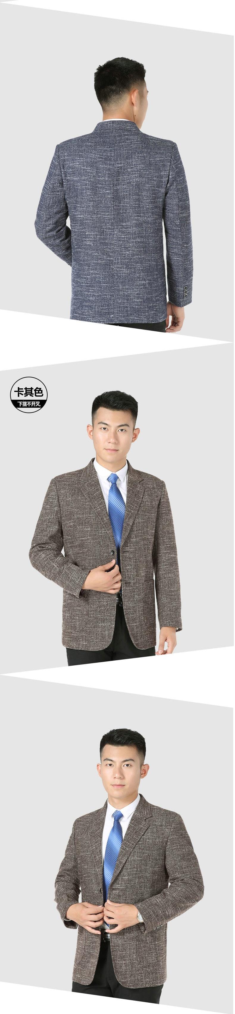 WAEOLSA Men Elegance Blazers Gray Red Khaki Suit Jackets Man Notched Collar Outfits Business Casual Blazer Male Office Suit Jacket Plus Size Wear (6)