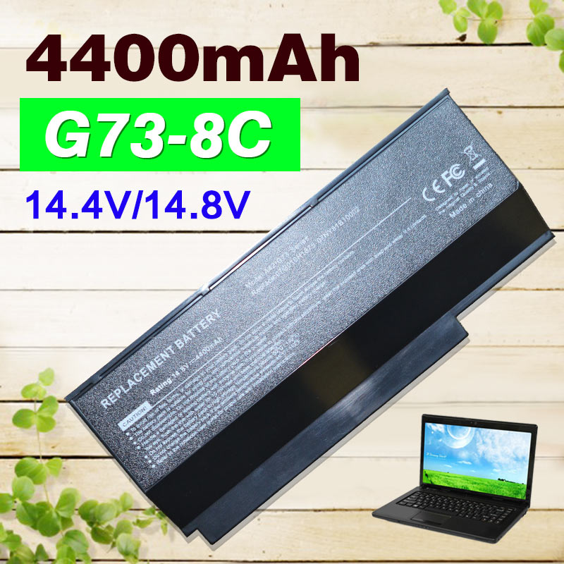 4400mAh 8 cells laptop battery for ASUS VX7 A42-G73 G73S G53 G53J G53S G53SX G73 G73G G73J G73JH G73JW G53SW genuine adp 150nb d 19 5v 7 7a 150w 5 5 2 5mm laptop ac dc adapter for asus g73j g53s g73s g53s g53sx adp 120zb bb power supply