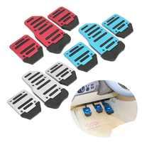 New Universal Anti-skid Kit Conjunto de Tampa Pedal Pedais Do Carro de Alumínio Universal Transmissão Manual de Vermelho/Azul/Prata estilo do carro
