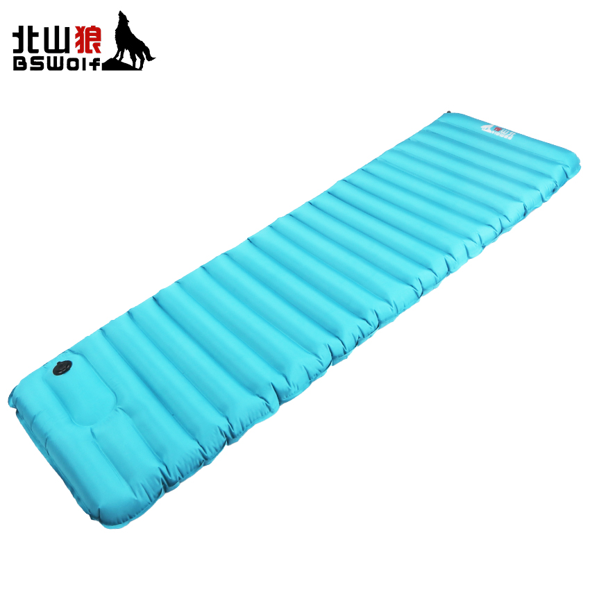 BSWolf Outdoor Inflatable Cushion 195*70*9cm Super-light Automatic Camping Mat Tent Air Mattress Soft Moisture-proof Pad все цены