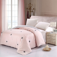Fresh 1pcs quilt cover Pink dandelion Duvet Cover comforter /blanket cover bedding Twin full queen size Quilt cover Home textile