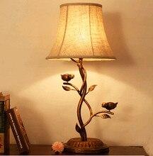 American Rural Original Bird Tree Branch Table Lamps Nostalgic Classic  Linen Iron Lamp For Bedroomu0026studiou0026foyeru0026tea TableZLTD030
