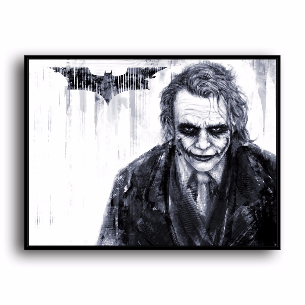 H2004 Joker Batman Anime Comic Film Gambar HD Kanvas Cetak