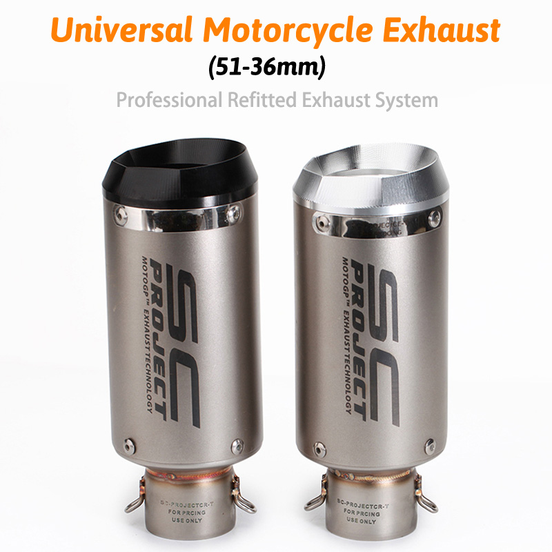 Universal 51mm sc project motorcycle exhaust muffler CNC exhaust z900 mt09 cbr1000rr s1000rr gsxr750 K11 k8 cb400 z650 цена