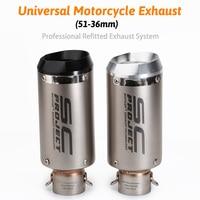 Universal 51mm sc project motorcycle exhaust muffler CNC exhaust z900 mt09 cbr1000rr s1000rr gsxr750 K11 k8 cb400 z650