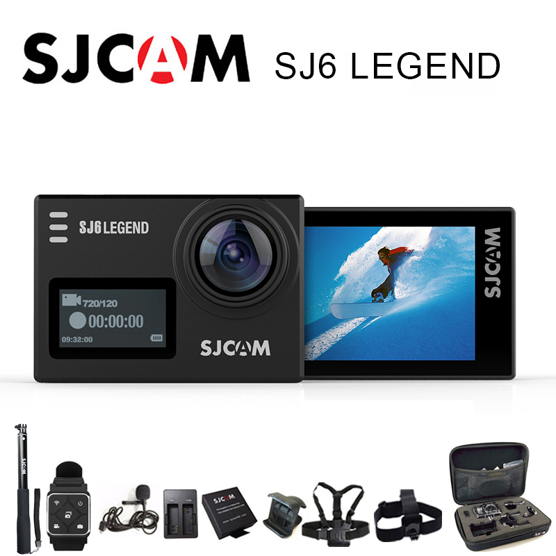 цены SJCAM SJ6 Legend Action Camera Sports DV Wifi Notavek 96660 4K 24fps Ultra HD Waterproof 2.0 Inch Touch Screen Original SJ Cam