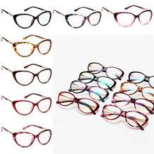 цена Metal Women Eyeglasses Frame Fashion Cat Eye Spectacles Prescription Glasses Frame Computer Eyeglasses Frame For Women