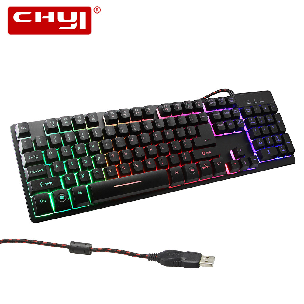 English Gaming Keyboard 3 Colors Backlit Keycaps Gaming Gamer with Similar Mechanical Feel for PC Computer Gamer Keyboard mechanical gaming keyboard motospeed k10 aluminium alloy top cover with bicolor injection keycaps keyboard gamer retail package