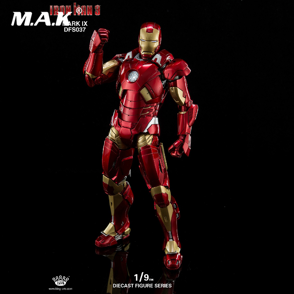 1/9 Scale King Arts DFS037 Mark9 1:9 Iron Man action figure Collectible Action Figures men fashion cobra electronic digital watch sport jelly silicone women dress wrist watches children clock relogio masculino