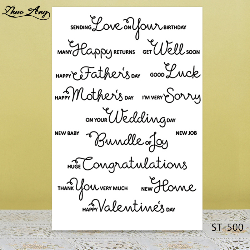 ZhuoAng Because you love me Transparent Clear Silicone Stamp/Seal for DIY scrapbooking/photo album Decorative clear stamp