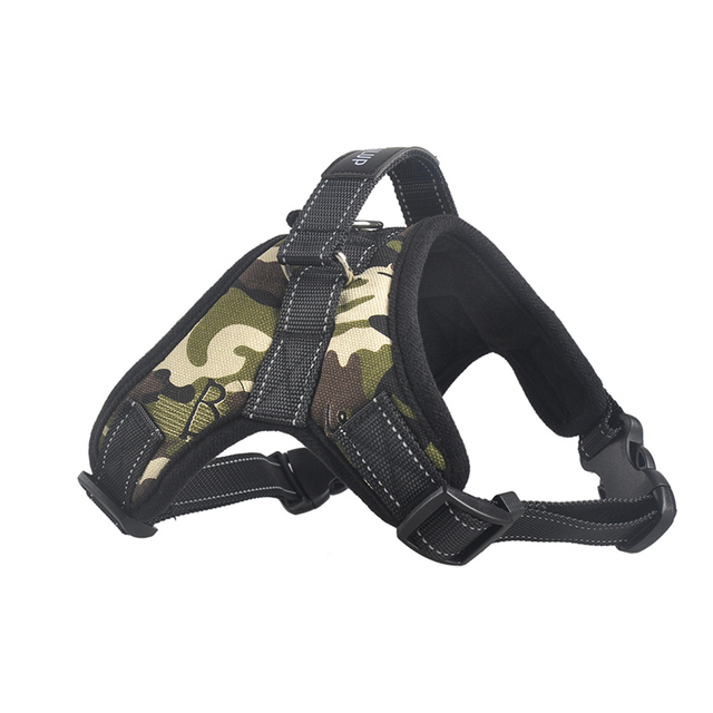 Hot Dog Adjustable Harness Pets Collar Leopard Campo Professional Out Door Dog Harness Hand Strap for Small Large Dogs Pitbulls