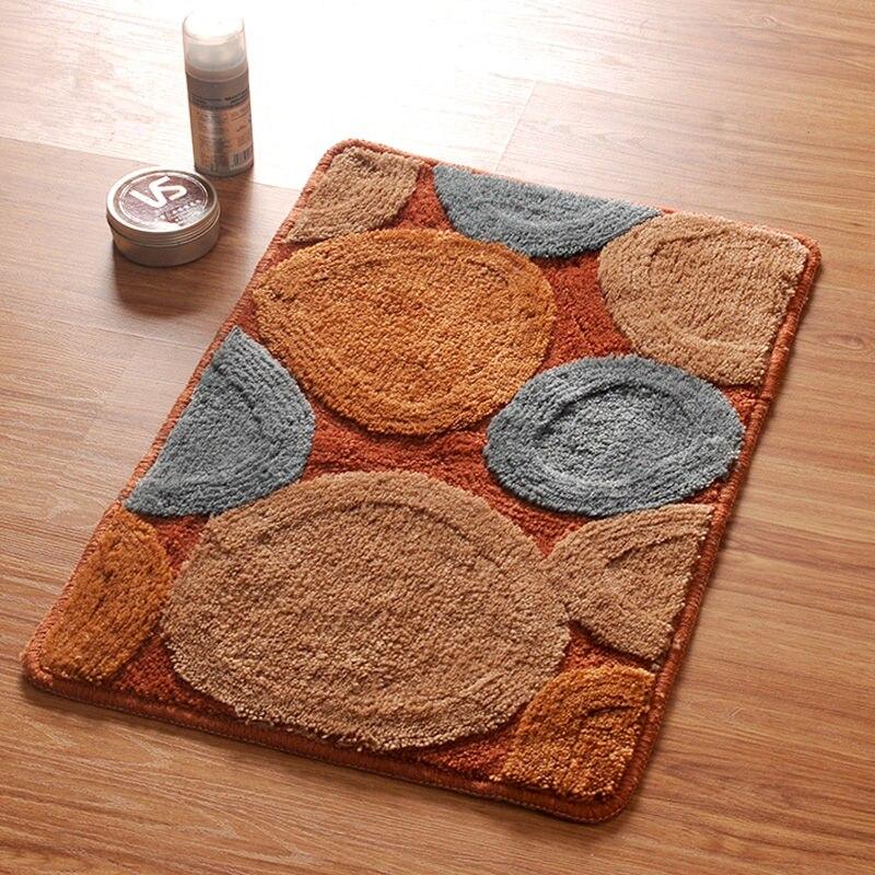 6090cm round design nonslip bathroom rug wc matmodern style living