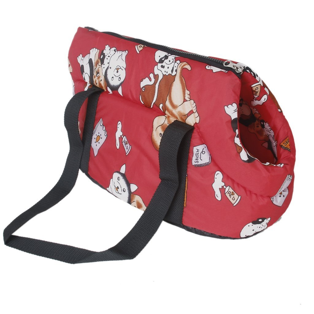 FGGS Hot StyleCarrier soft travel bag Shoulder Handbag for dog / cat Size Small - RedFGGS Hot StyleCarrier soft travel bag Shoulder Handbag for dog / cat Size Small - Red