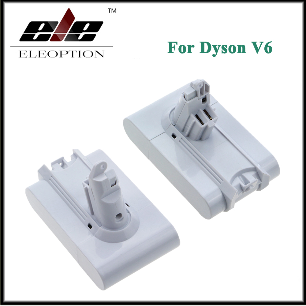 2x ELEOPTION 21.6 В 3000 мАч литий-ионная Батарея для <font><b>Dyson</b></font> V6 матрас беспроводной ручной Пылесосы для автомобиля для <font><b>Dyson</b></font> dc58 dc59