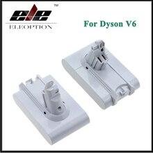 2x Eleoption 21.6V 3000mAh Li-ion Replacement Battery For Dyson V6 Mattress Cordless Handheld Vacuum Cleaner For Dyson DC58 DC59