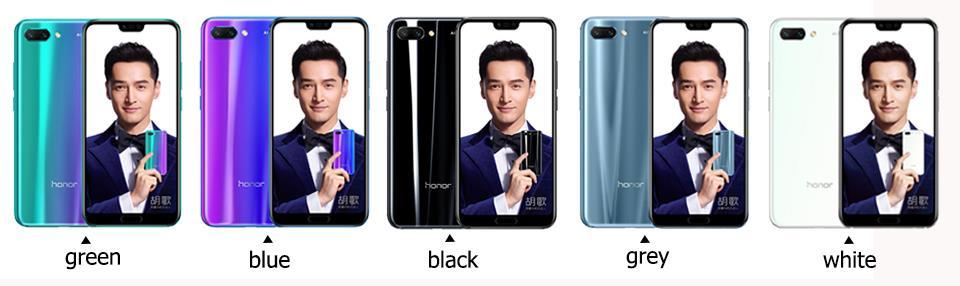 Honor 10 mobile phone honor10 19:9 Full Screen 5.84 inch AI Camera Octa Core Fingerprint ID NFC android 8.1