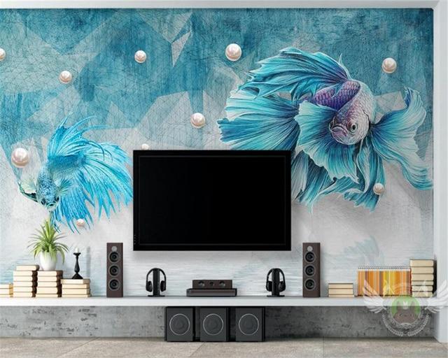 Muurschilderingen Voor Slaapkamer : Beibehang d behang woonkamer slaapkamer muurschildering