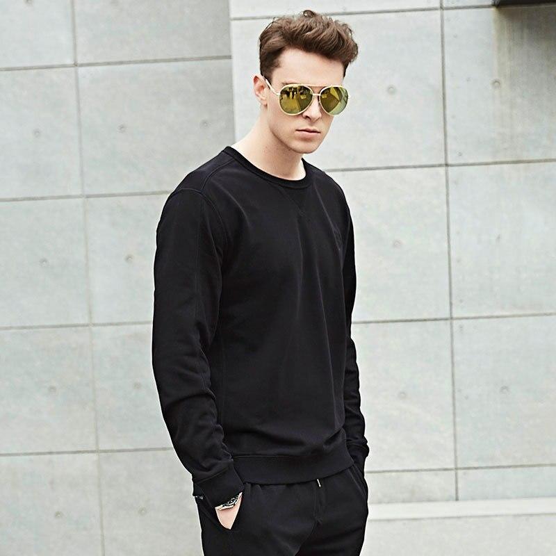 Asia Casual Size Mode shirt black Manches Solide Taille Tops Automne O Lâche Hommes Printemps 2018 T À Chemise Cou T grey Blue Asie Size Longues shirts Couleur De Size gPS1qw