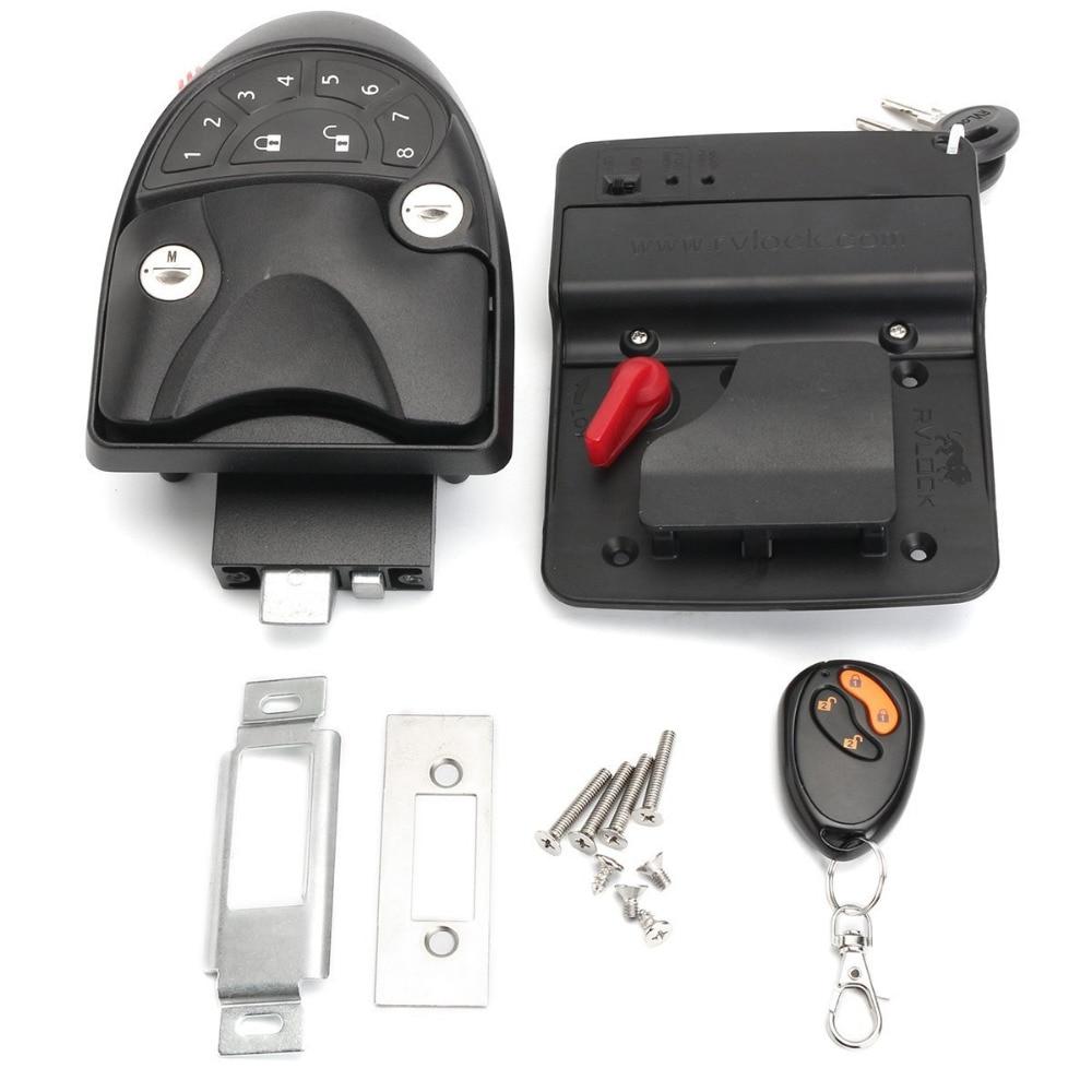 Keyless Entry System Car Alarms Remote Control Central Kit Door Lock Latch Handle Knob Deadbolt Camper Trailer
