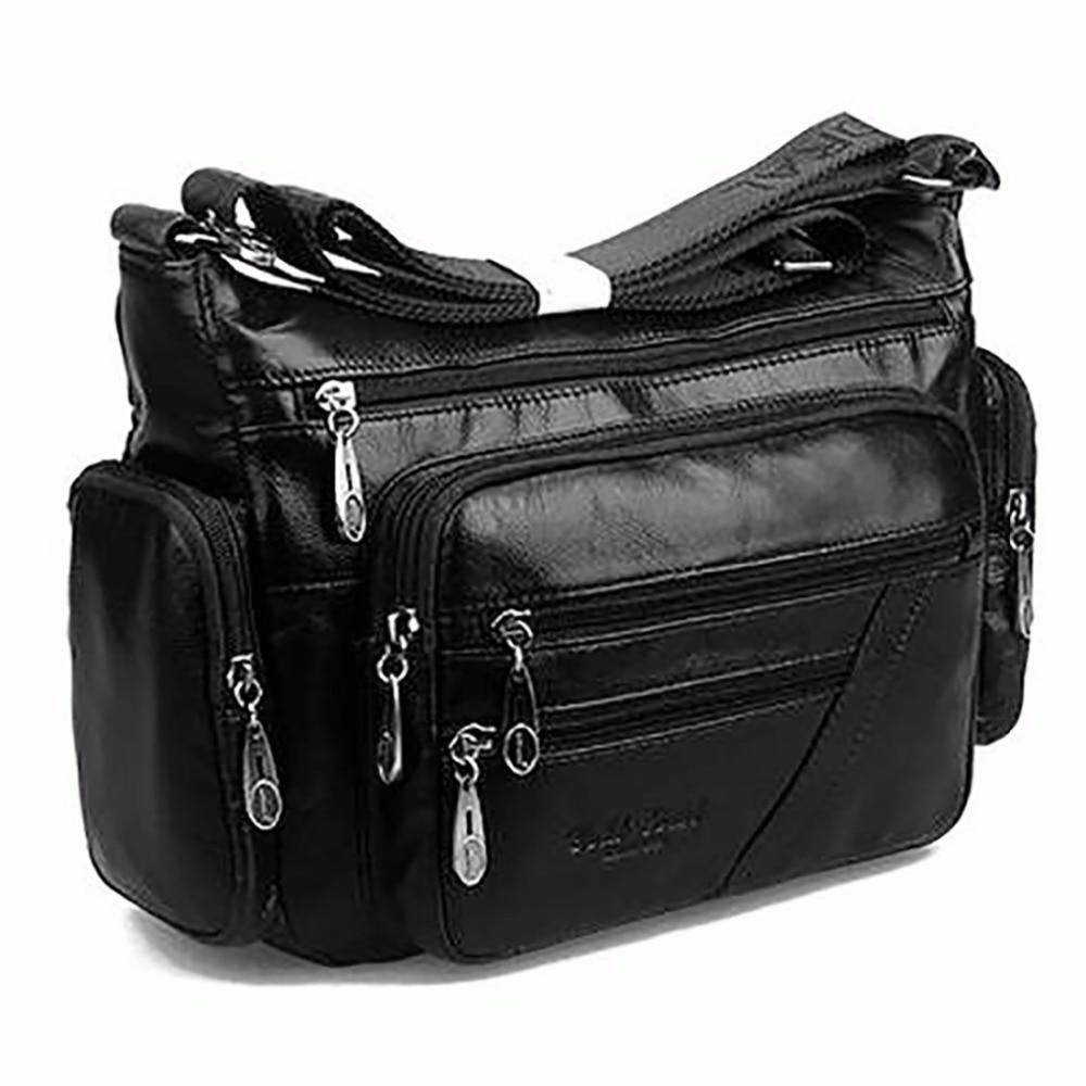 Женская винтажная сумка на плечо, первый слой из воловьей кожи, сумки мессенджеры для покупок, повседневные брендовые известные сумки из на
