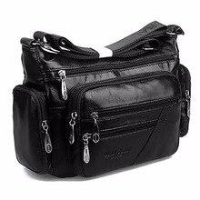 ผู้หญิง VINTAGE กระเป๋าสะพาย First Layer Cowhide Messenger กระเป๋า Casual แบรนด์ที่มีชื่อเสียงหนังแท้ Crossbody กระเป๋า