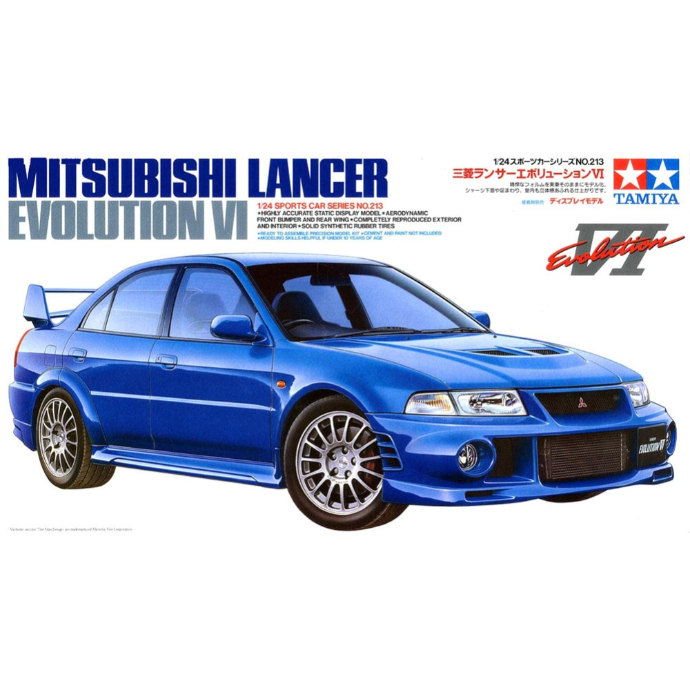 OHS Tamiya 24213 1/24 Lancer Evolution VI Scale Assembly Car Model Building Kits G delta dl 7014 blue блендер погружной