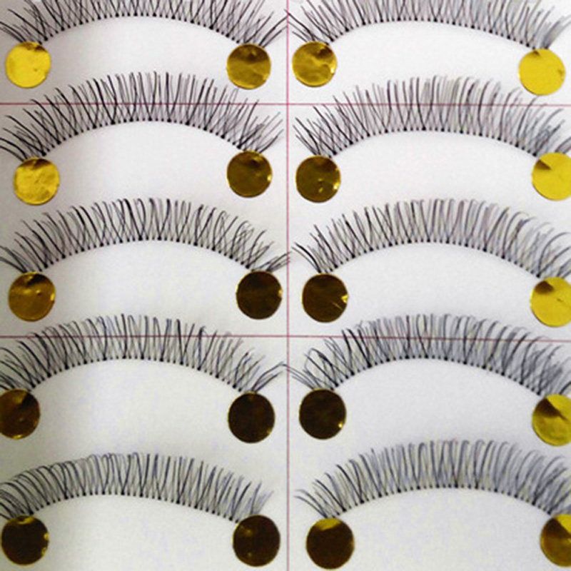 10 Pairs Makeup Handmade Thick Cross Eyelashes Natural Long False Eye Lash Eye Lashes Extension Tools VD373 P40