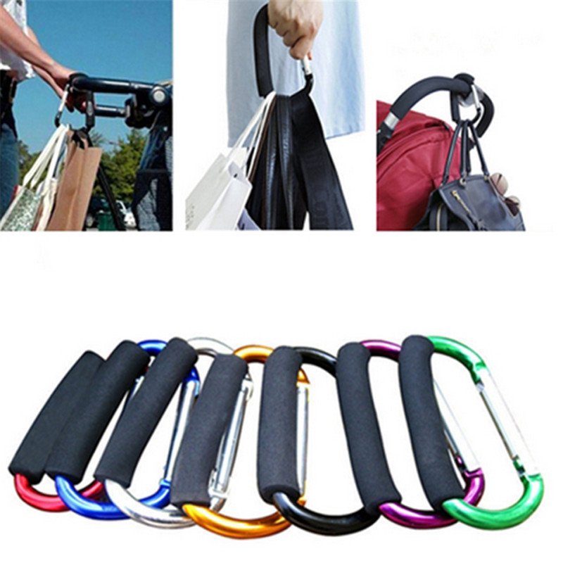 N Plastic Baby Stroller Pushchair Car Hanger 2 Hooks Strap Multi Purpose Picks