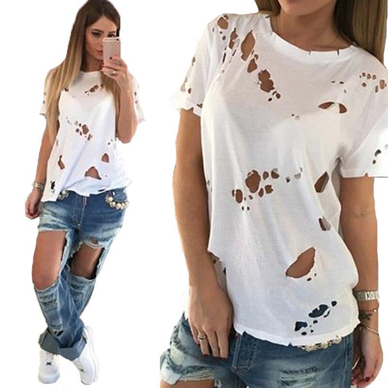 Online Get Cheap Hole White T Shirt -Aliexpress.com | Alibaba Group