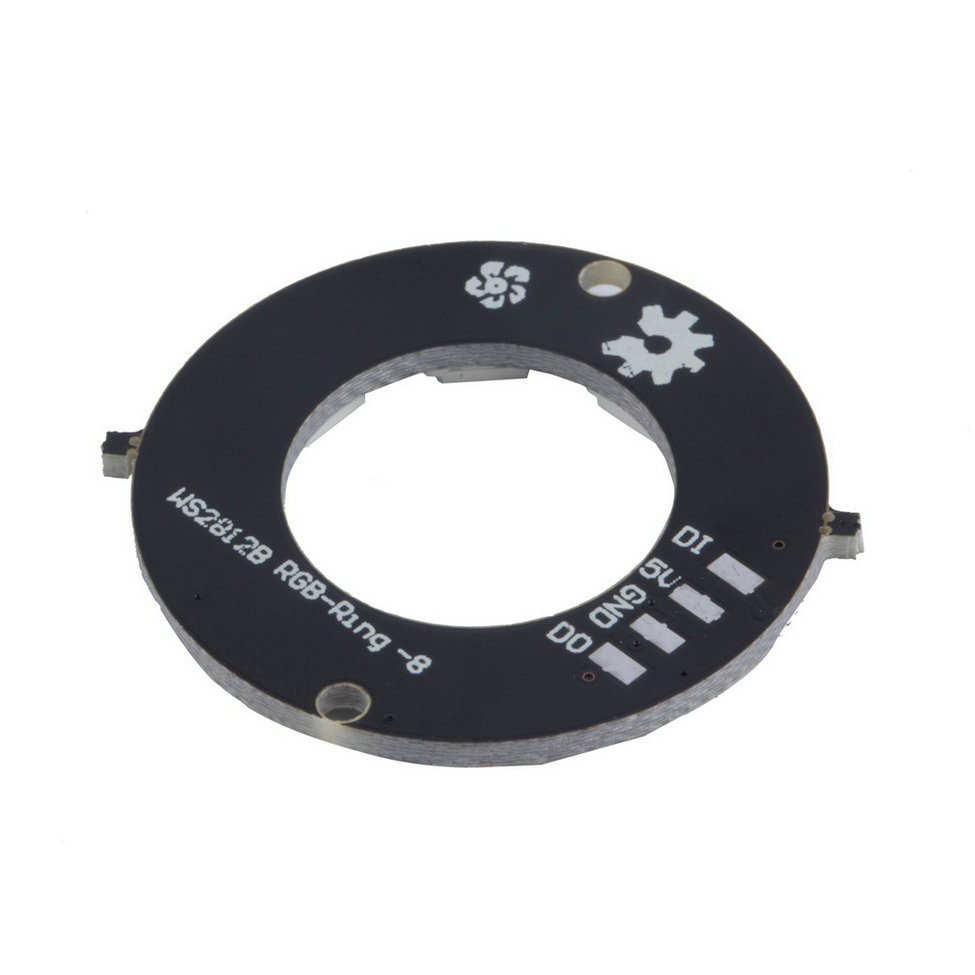 2016 Nuovo Ws2812 8-bit 5050 Rgb Ha Condotto La Lampada Di Pannello Rotonda Anello Di Led Driver Di Scheda Di Sviluppo Nero Giada Bianca