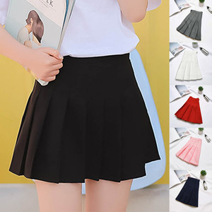 Women Fashion Summer high waist pleated skirt Wind Cosplay skirt kawaii Female Mini Skirts Short Under it