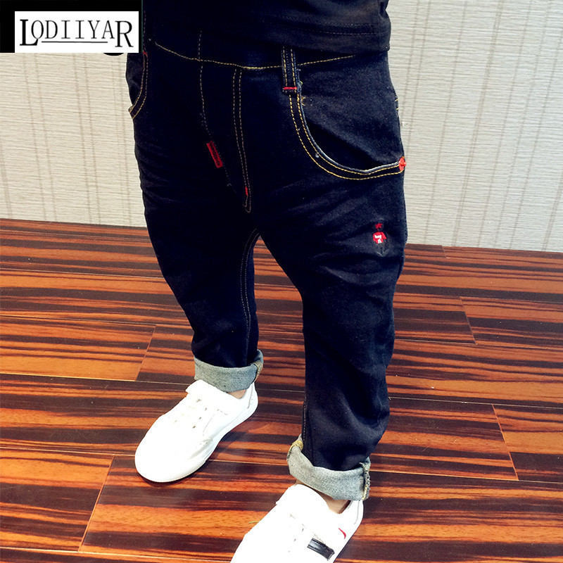 ФОТО 2017 New Children's Clothing Kids Boys Jeans Pants, Casual Korean Baby Boys Pants, Fashion Jeans Trousers For Children