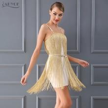 Adyce Party Dresses club Mini Dress Night Evening 2018 New Spring Runway Sexy Women Dress Fringe Tassel Embellished Vestidos