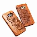 Натуральное Дерево Выбивает Случай Для iPhone 5 5s SE 6 6 s Plus Samsung Galaxy S6 S7 край Плюс S5 S4 S3 Примечание 7 5 4 3 Резьба Деревянные Funda