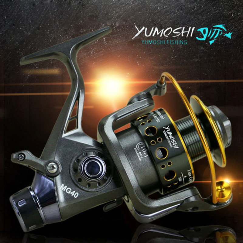 YUMOSHI 5.2:1 10+1 BB Front And Rear Drag Spinning Reels 3000 4000 5000 6000 Fishing Reels