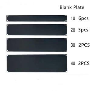"Image 1 - DHL free Blank Plate 1U 2U 3U 4U 5U 6U for 19"" rack mount cabinet patch panel rack mounting blanking for serve case 1.6mm thick"