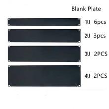 "DHL gratis Lege Plaat 1U 2U 3U 4U 5U 6U voor 19 ""rack mount kast patch panel rack montage blanking voor dienen case 1.6mm dikke"