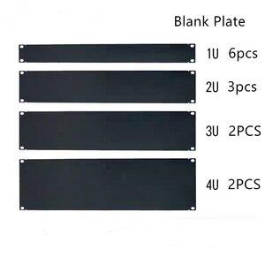 """Image 1 - Dhl placa em branco livre 1u 2u 3u 4u 5u 6u para 19 """"montagem em rack gabinete remendo painel rack montagem blanking para servir caso 1.6mm de espessura"""