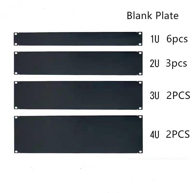 """Dhl placa em branco livre 1u 2u 3u 4u 5u 6u para 19 """"montagem em rack gabinete remendo painel rack montagem blanking para servir caso 1.6mm de espessura"""