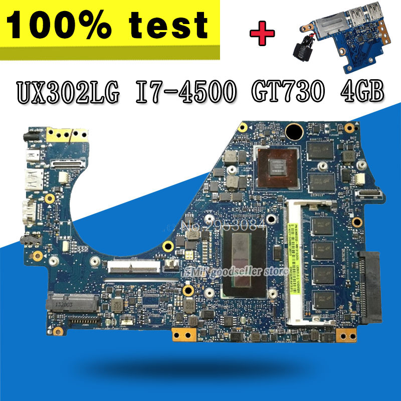 For ASUS UX302 UX302L UX302LA UX302LN W// I7-4500U Motherboard UX302 Mainboard
