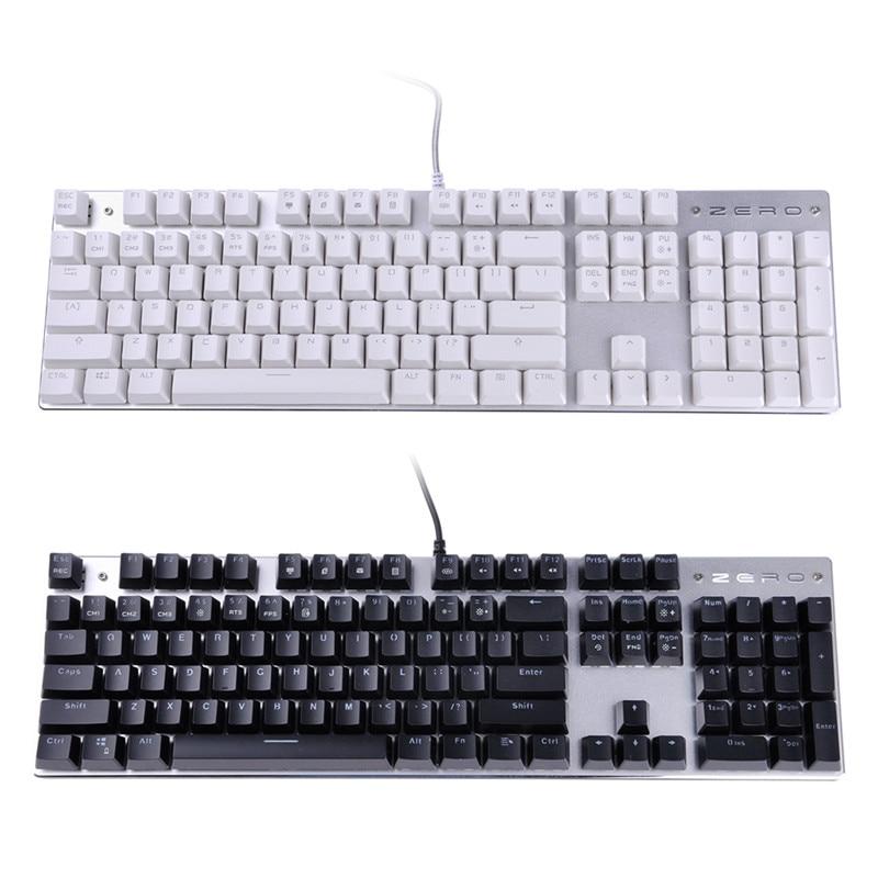 USB Wired Keyboard Keypad 104 Keys Backlight Backlit Gaming Game For PC Computer
