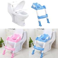 Baby Toilet Seat Baby Folding Potty Trainer Seat Chair Step With Adjustable Ladder Child Potty Seat Toilet