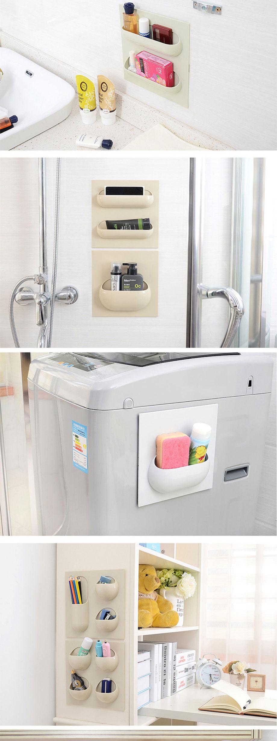 Cartoon Toothbrush Wall Mounted Holder Sucker Bathroom Suction Cup Organi SP