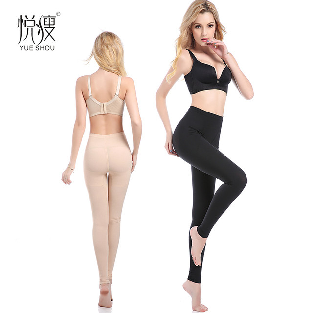 7e196c09a6be Sexy Women Legs Shaping Long Panties Hip-Up Hosiery Women Compression  Buttocks Lift Pants Massage Thigh Slimming Calf Shaper
