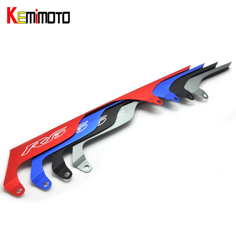 KEMiMOTO For Yamaha YZF-R6 YZF-6S YZF R6 Rear Chain Guard Mud Cover R6 For Yamaha R6 2004 2005 R6S 2003-2010 new abs plastic speedometer gauges tachometer instrument cover case for yamaha yzf r1 2002 2003 r6 2003 2004 2005
